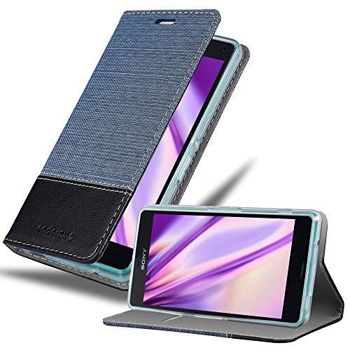 Cadorabo Coque pour Sony Xperia Z3 Compact en Bleu FONCÉ Noir - Housse Protection avec Fermoire Magnétique, Stand Horizontal et Fente Carte - Portefeuille Etui Poche Folio Case Cover
