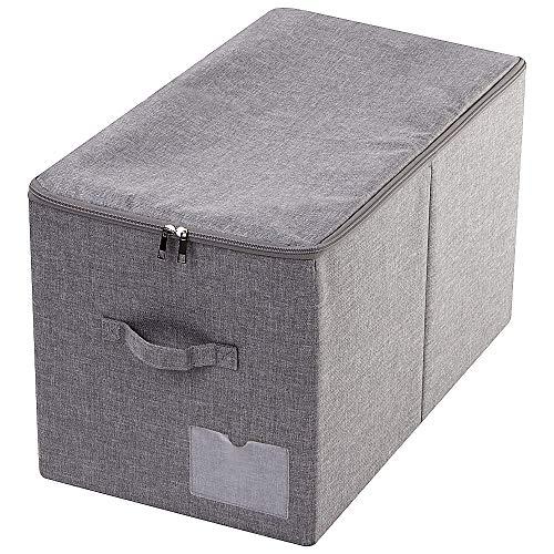56 (L) x 32 (B) x 33 cm (H), zusammenklappbare Winterkleidungs-Vorratsbehälter mit Deckel, kompatibel mit IKEA Pax Closet mit Einer Tiefe von 60 cm, dunkelgrau