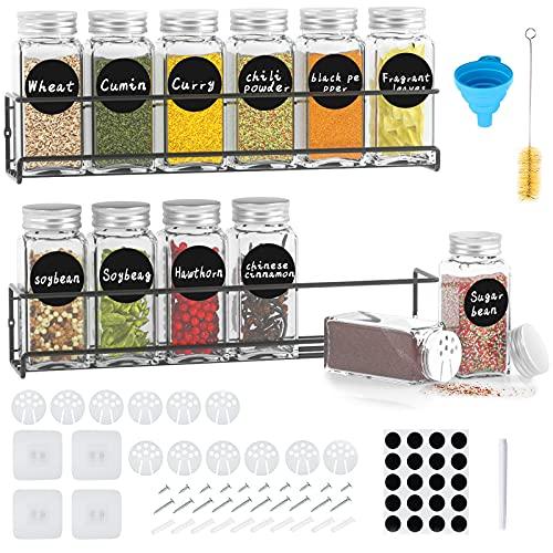 Bestdon Estantería para especias de metal, juego de 2 estantes de cocina,...