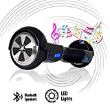 ACBK - Scooter Elettrico Hover Autobilanciato con Ruote da 6.5'' (Bluetooth + Luci a LED) velocit...