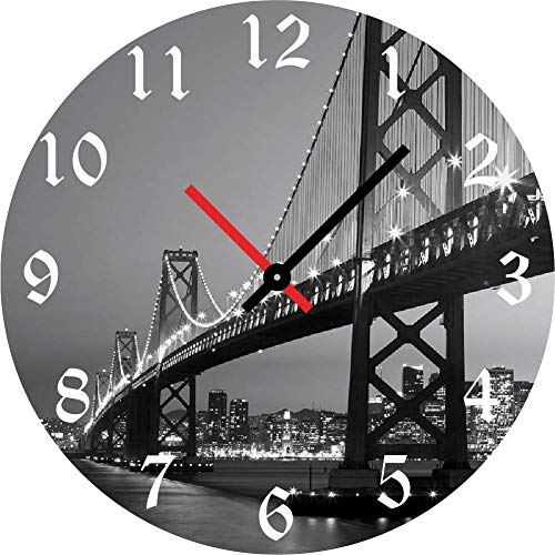 OLDER TIMES Orologio da parete moderno, Orologio da muro, Orologio da parete, Meccanismo orologio da parete silenzioso, Orologio muro, Orologio da parete moderni (San Francisco)