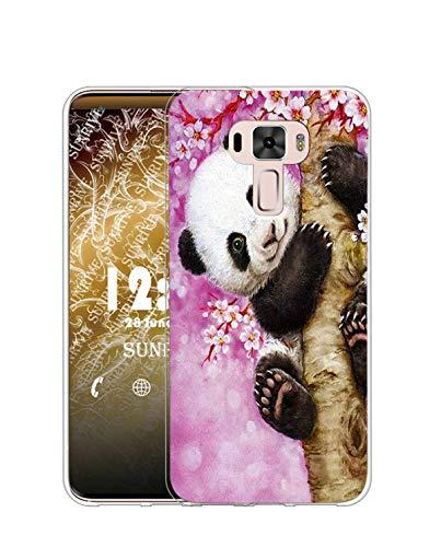 Sunrive Kompatibel mit Asus Zenfone 3 ZE520KL Hülle Silikon, Transparent Handyhülle Schutzhülle Etui Hülle (TPU Baumpanda)+Gratis Universal Eingabestift MEHRWEG