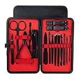 Abcidubxc 16/18 piezas Set de manicura de acero inoxidable, kit de manicura, set de manicura de uñas, para viaje y para la casa
