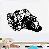 Vinilo Adhesivo de Pared de Arte Motocicleta Moto Racing Motocicleta Bicicleta calcomanía para Sala de Estar habitación para niños decoración del hogar 90x135 cm