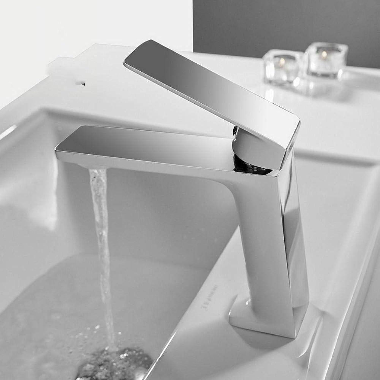 Hiwenr Becken Wasserhahn Waschbecken Wasserhahn Einhand-Loch Chrom Wasserhahn Waschtischarmaturen Deck Vintage Wash Hot Cold Mischbatterie Kran