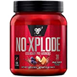 BSN N.O.-XPLODE Pre-Workout Supplement with Creatine, Beta-Alanine, and Energy, Flavor: Caffeine Free Fruit Punch, 30 Servings