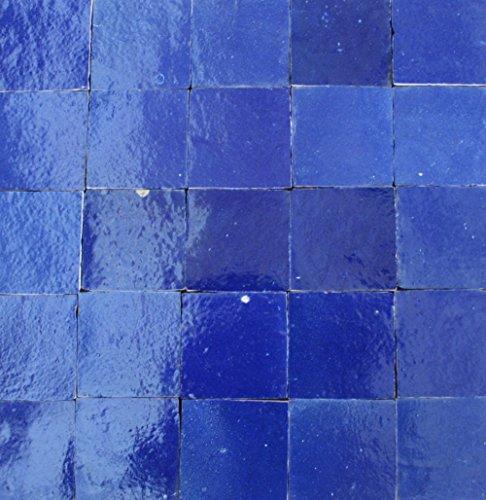 1m² Keramikfliesen Zelliges dunkelblau mit einen lila schimmer marokkanische Fliesen