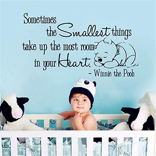 Autocollant Winnie l'ourson Autocollants Winnie l'ourson Qinnie, citations parfois Mode chambre bébé chambre d'enfant
