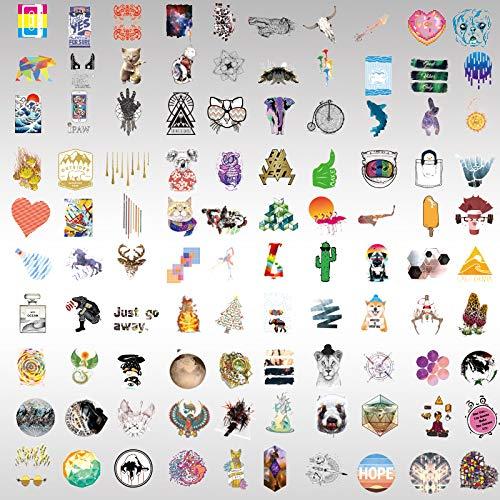 Pegatinas de dibujos animados para teléfono móvil, impermeables, 100 unidades