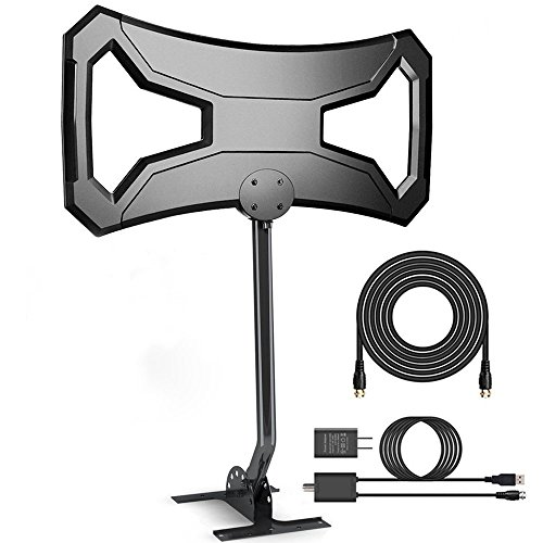 AntennaWorld Outdoor HDTV Antenna 150-180 Miles Range TV Antenna Omni-Directional with Pole...