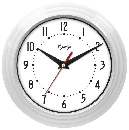 Equity by La Crosse 25011 8 Inch White Clock
