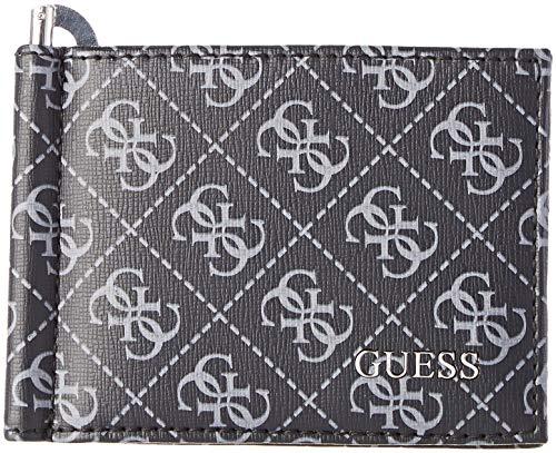 Guess Manhattan Logo, Men's Wallet, Black, 2x8x11 cm (W x H L)