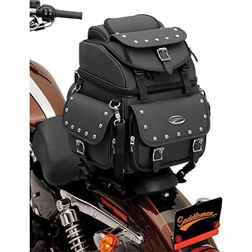 Saddlemen 3515-0119 Combination Backrest/Seat/Sissy Bar Bag with Studs