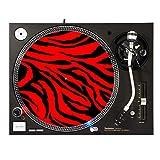 Red Zebra - DJ Turntable Slipmat