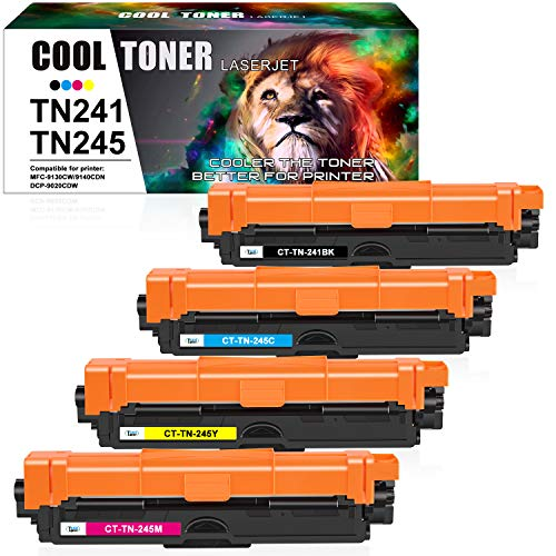 Cool Toner Kompatibel für Brother TN-241 TN-245 TN-242 TN-246 TN245 Tonerkartusche Replacement für Brother DCP-9022CDW MFC-9332CDW HL-3152CDW MFC-9142CDN HL-3140CW MFC-9330CDW MFC-9140CDN MFC-9340CDW