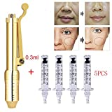 JYY Hyaluronic Pen Kit High Pressure Acid Guns Atomizer with 5 Ampoule Head for Anti-Wrinkle Filling Lifting Lips Rejuvenation Skin