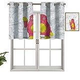 Hiiiman Cortinas térmicas aisladas con cenefa, diseño de monstruo inteligente, juego de 2, 42 x 36 pulgadas para decoración de salón comedor