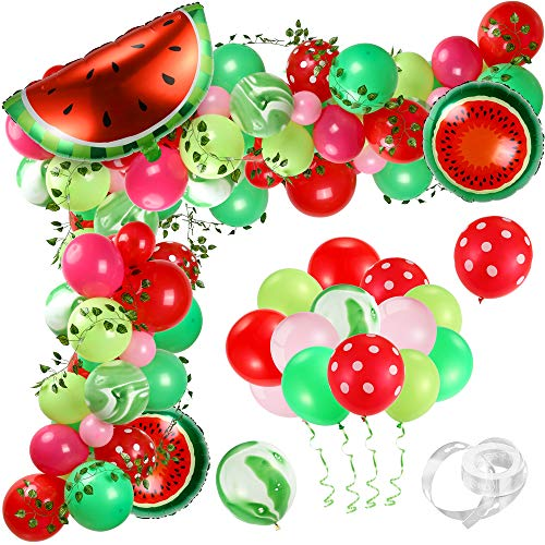 Watermelon Party Balloons Garland