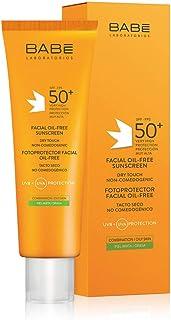 Laboratorios Babé - Fotoprotector Facial Oil-Free 50 ml Muy Alta Protección Solar Crema Solar Para el Rostro Piel Mixta...