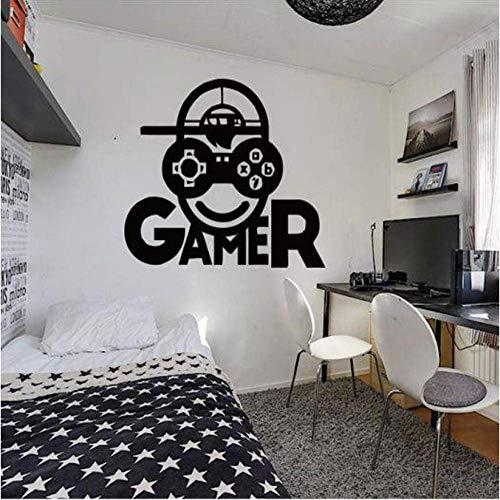 Etiqueta De La Pared Gamer Videojuego Etiqueta De La Pared Controlador De Carga, Decoración Del Hogar Para La Habitación De Los Niños, Pegatinas De Arte, Mural Del Dormitorio 42X44Cm