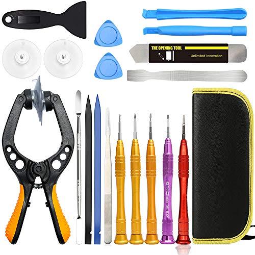 Kaisi Kit Herramienta movil Destornillador Apertura de Pantalla LCD Desmontar moviles reparación para reemplazar la batería y Abrir teléfono para iPhone Series, iPads, iPad