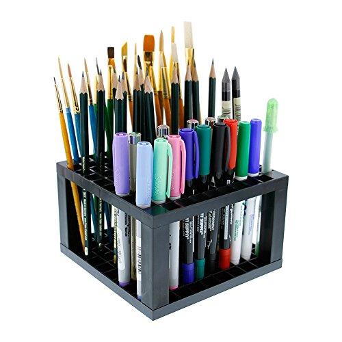 Pawaca Stifte- und Pinselhalter aus Kunststoff mit 96 Löchern für Gelstifte, Pinsel, Buntstifte, Marker und mehr