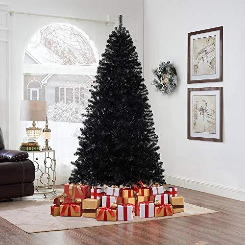 Naomi Home Artificial Christmas Tree Contemporary Spruce Tree Black/7.5 ft