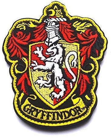 Parches de calidad Harry Potter, blasones parche Gryffindor (Gryffindor)