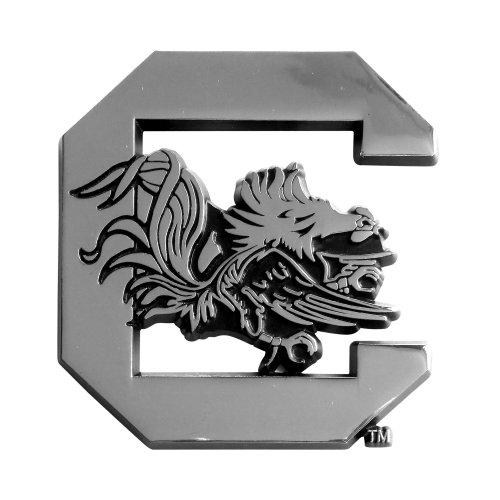FANMATS 14929 NCAA University of South Carolina Gamecocks Chrome Team Emblem,2.9'x3.2'