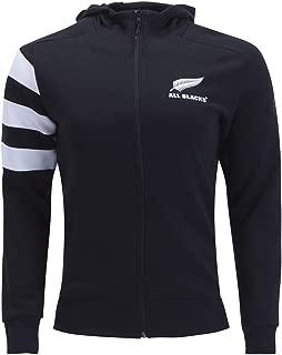 adidas All Blacks Rugby Full-Zip Hoody, Black