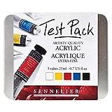 Sennelier - Boîte métal de 5 peintures Acrylique 21ml Test Pack
