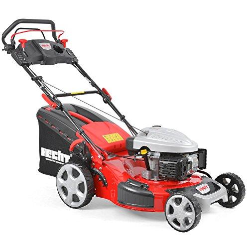 HECHT Benzin-Rasenmäher 5564 SX Rasenmäher (4,4 kW (6,0 PS), Schnittbreite 56 cm, 70 Liter Fangkorbvolumen, 7-fache Schnitthöhenverstellung 25-75 mm, Radantrieb)