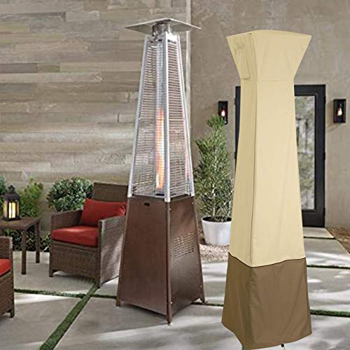 Ecurson Stand-up Patio Heater Cover with Zipper, Heavy Duty Oxford Waterproof Heater Covers for Outdoor Heaters,Breathable Material, Heavy Duty Garden Patio Heater Dirt Cover Protector
