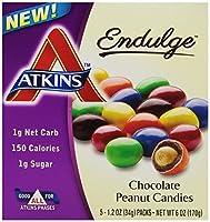 チョコレートピーナッツキャンディー 5パック ATKINS(アトキンス)(海外直送品)