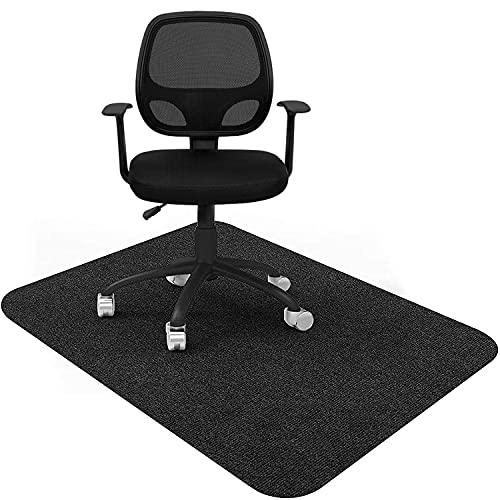 チェアマット ずれない 床保護マット 140 x 90cm ゲーミング デスクマット デスク 椅子 マット カット可能 デスク足元マット フローリングマット 吸音 床傷防止 滑り止 丸洗い可能 (グレー)