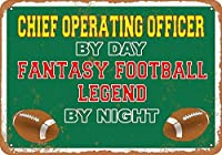 日による錫メタル署名壁装飾チーフ営業役員、夜ビンテージレトロホームバーパブ装飾ユニークな贈り物によるファンタジーフットボール伝説