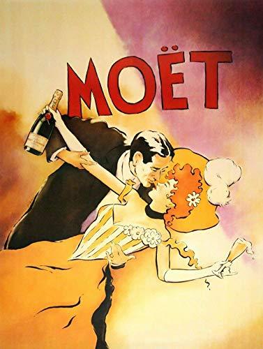 Targa in metallo vintage retrò Moet & Chandon champagne francese casa garage bar club hotel decorazione da parete segni 30 x 20 cm