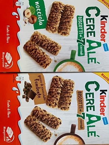 Geschenkset Ferrero Kinder Cere Alé Kekse in Schokolade und Haselnuss je 250g Kekse
