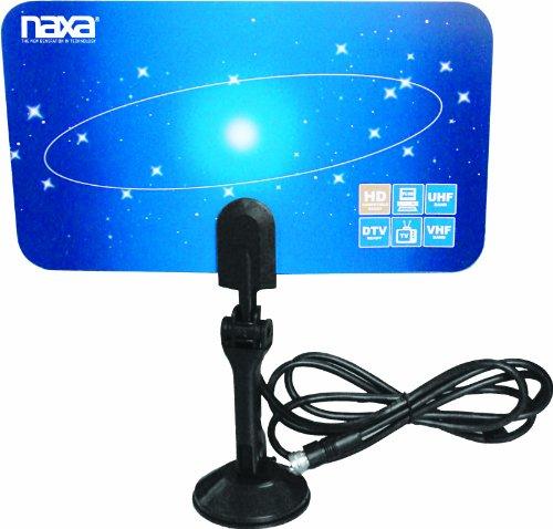naxa outdoor tv antennas Naxa Electronics NAA-306 Ultra-Thin Flat Panel Style High Powered Antenna Suitable for HDTV and ATSC Digital Television