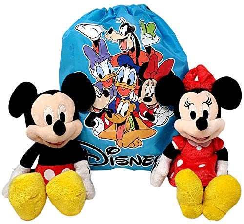 Disney 10' Plush Mickey & Minnie Mouse 2-Pack in Sling Bag