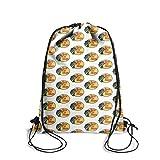 ERTMU Drawstring Sackpack Backpack Durable Bass-Pro-Shop-Fishing-Regular-Yellow- for Hiking Yoga Gym...