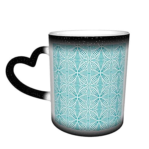 Keramische Cup Fish Lace Dichte Aqua Warmtegevoelige Kleur Veranderende Mok in de Hemel Koffie Mokken Gepersonaliseerde Geschenken