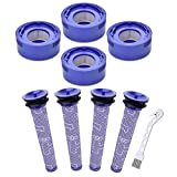 Mochenli 8 Pack Filter Replacement Kit Compatible with Dyson V7, V8 Animal and Absolute Cordless Vacuum, 4 HEPA Post-Filter & 4 Pre-Filter Set, Replace Part # 965661-01 & 967478-01.