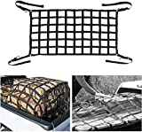 Bosmutus Cargo Net 5 .5x4.2 ft Short Truck Bed Cargo Net Heavy Duty Cargo Nets for Pickup Trucks with Cam Buckles & S-Hooks (66' x 50')