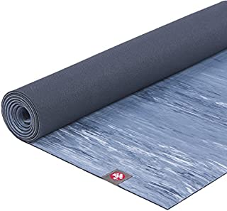 Manduka eKOlite Yoga Mat – Premium 4mm Thick Mat, Eco Friendly and Made from Natural Tree Rubber.  Ultimate Catch Grip for Superior Traction, Dense Cushioning for Support and Stability in Yoga, Pilates, and General Fitness.