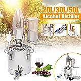 Xin Hai Yuan 20L / 30L / 50L de Bricolaje Home Brew Destilador del Alcohol Ilegal de Alcohol Aún Inoxidable Cobre Agua Vino Aceite Esencial Brewing Kit,20L