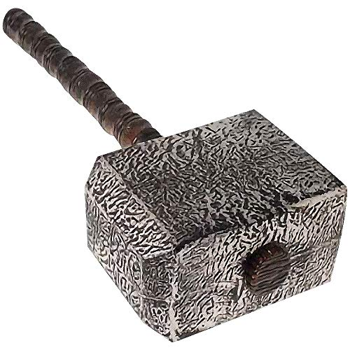 Thor's Hammer Toy for Kids, Viking Halloween Costume Accessories, 21 Inch Plastic