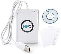 TOPINCN Lector Tarjeta Inteligente Blanco Lector Tarjeta ID Papel NFC ACR122U ISO14443 A/B Reproductor Grabador Inteligente Contactless para Seguridad Casa