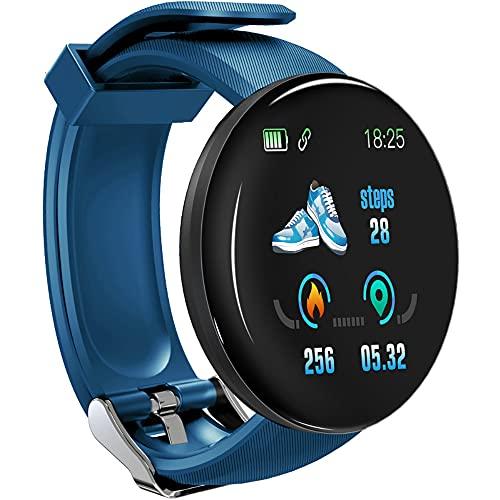 Reloj inteligente D18S para hombres y mujeres, monitor de frecuencia cardíaca, podómetro, contador de calorías, IP65, impermeable, con pantalla HD de 1,46 pulgadas, regalo cálido