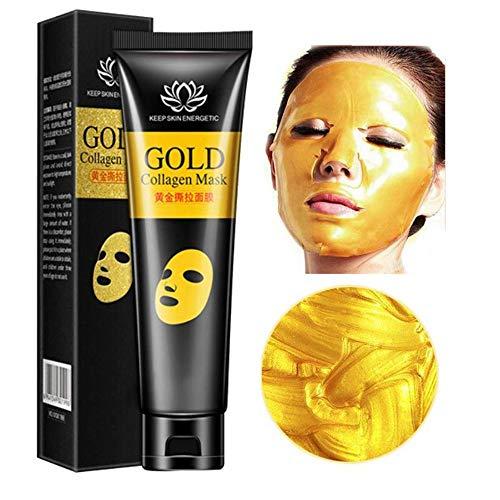 24 k Gold Maske Collagen Peel-off Gesichtsmaske Whitening Anti-Falten-Gesichtsmasken Hautpflege Facelifting Straffende Feuchtigkeitsspendende 60g